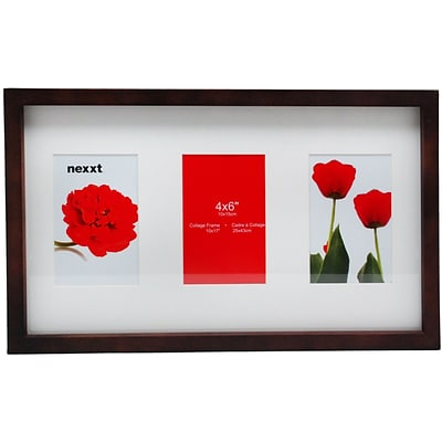 Nexxt PN00240-2FF Wood 11.2 x 18.4 Picture Frame; Espresso