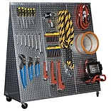 Alligator Board 48 x 20 A Frame Metal Pegboard WOW Tool Cart w/ Wheels