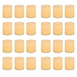 Inglow Wax Flameless Wax-Covered LED Votive Candle 24-Pack
