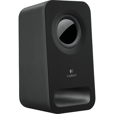 Logitech® 20 W Multimedia 2.0 Speaker System; Midnight Black