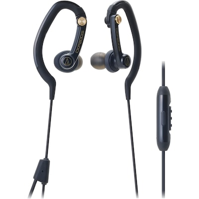 Audio Technica Headphones Sonicsport Ath Ckp200isbk In Ear Headphones For Smartphones Black