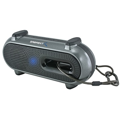 Sabrent™ SP-BYTA 2 W RMS Ultra-Portable Outdoor Wireless Bluetooth Speaker W/Snap Hook; Black