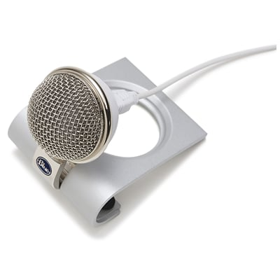 Blue® Microphones Snowflake USB Microphone, Gray