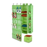 Honey-Can-Do 4-Piece Room Velcro-Style Straps & Clear Vinyl Organization Set, Lime