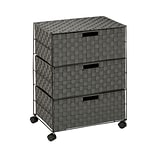 Honey-Can-Do Double Drawer Woven Fabric Storage Organizer, Salt & Pepper