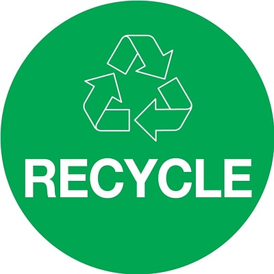 Tape Logic™ 2 x 3 RECYCLE Circle Inventory Label, Green, 500/Roll