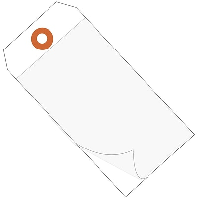 BOX 6 1/4 x 3 1/8 #8 Self Laminating Tags, White