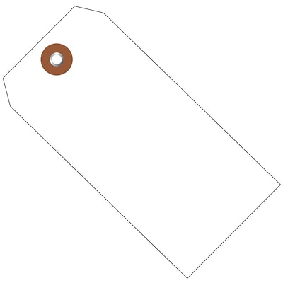 BOX 4 3/4 x 2 3/8 #5 Plastic Shipping Tags, White