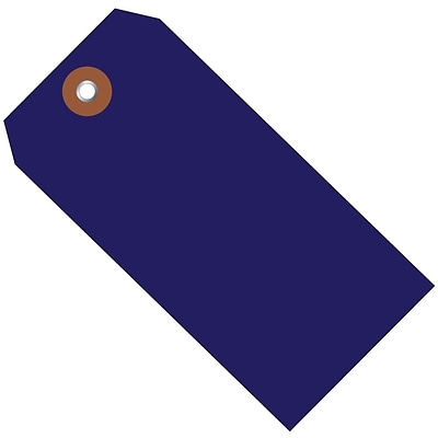 BOX 4 3/4 x 2 3/8 #5 Plastic Shipping Tags, Blue