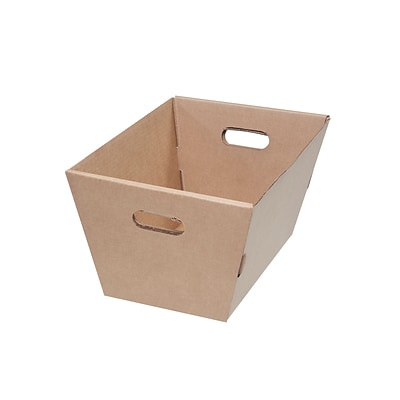 10 x 13 x 19.5 Corrugated Tote, Brown, 25/Pack (MT191310)