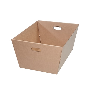 25 x 19 x 12 Kraft Corrugated Tote, 25/Pack (MT251912)