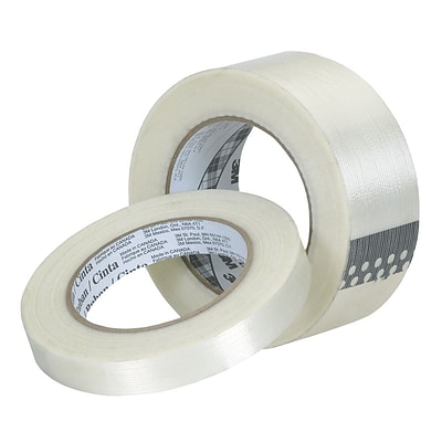 3M™ 0.94 x 60.14 yds. Polypropylene Film Filament Tape, Clear, 12/Pack