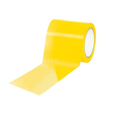 3M™ 4 x 36 yds. Caution/Physical Hazard Solid Vinyl Safety Tape, Yellow, 12/Pack