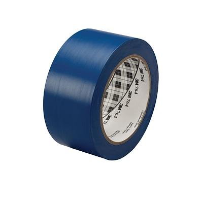 3M™ 2 x 36 yds. General Purpose Solid Vinyl Safety Tape 764, Blue, 6/Pack