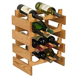 Wooden Mallet Dakota 12 Bottle Floor Wine Rack; Light Oak