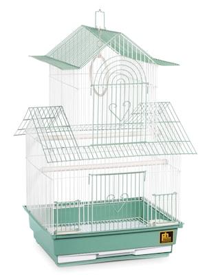 Prevue Hendryx Shanghai Parakeet Bird Cage; Green
