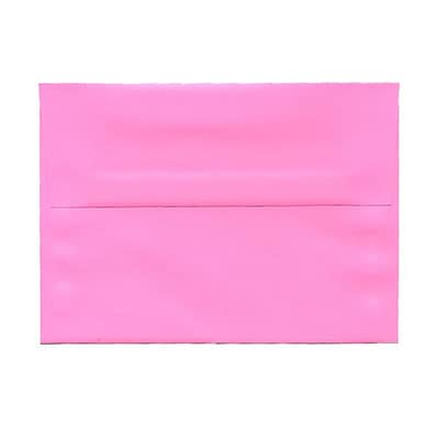 JAM Paper® A7 Invitation Envelopes, 5.25 x 7.25, Brite Hue Ultra Pink, 1000/carton (96268B)