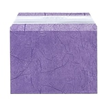 JAM Paper® Cello Sleeves, A6, 4 5/8 x 6 7/16, Purple Fiber, 100/pack (2785501)