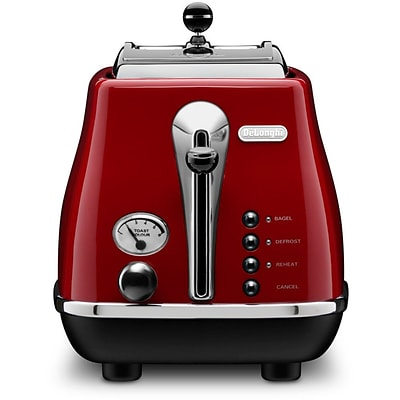 DeLonghi Icona 2 Slice Toaster; Red