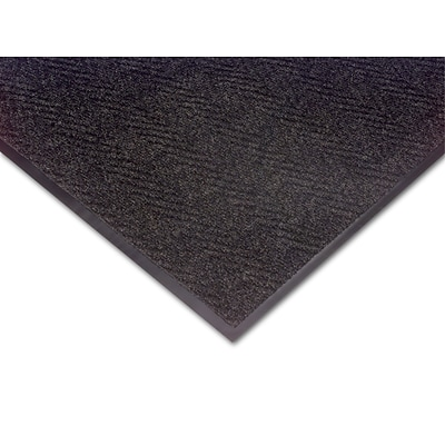 NoTrax® Akro® Chevron Fiber Best Entrance Floor Mat, 3 x 5, Charcoal