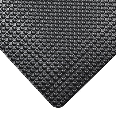 NoTrax Bubble Trax Vinyl Anti-Fatigue Mat, 36 x 24, Black