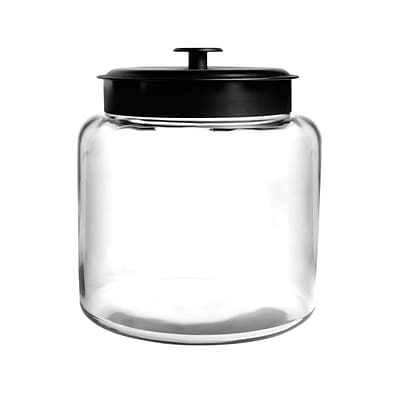 Anchor Hocking® 1.5 gal Glass Montana Jar With Black Lid, Clear
