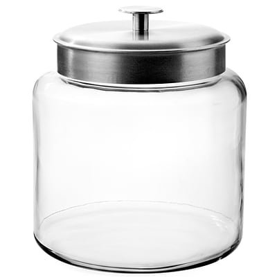 Anchor Hocking® 1.5 gal Glass Montana Jar With Silver Lid, Clear