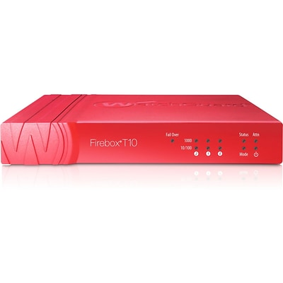 WatchGuard® Firebox T10 Network Security/Firewall Appliance With 1 Year UTM Suite