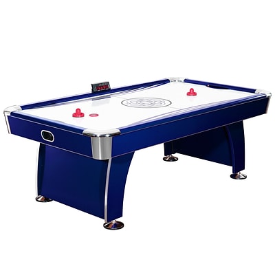 Hathaway™ Phantom 7.5 Air Hockey Table With Electronic Scoring, Dark Blue/Silver