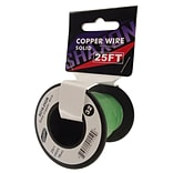 Shaxon 25 Solid Copper 18 AWG Wire On Spool, Green