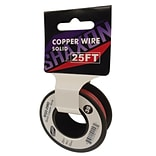 Shaxon 25 Solid Copper 22 AWG Wire On Spool, Red