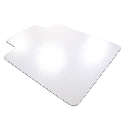 Floortex Anti-Slip 60x48 Polycarbonate Chair Mat for Hard Floor, Rectangular w/Lip (1215020LRA)