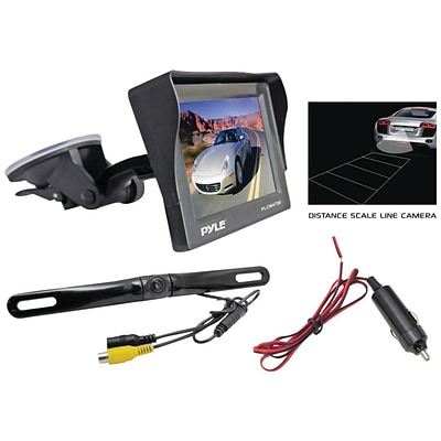 Pyle® audio PLCM4700 4.7 Window Suction Mount TFT/LCD Monitor With Rear View Backup Color Camera