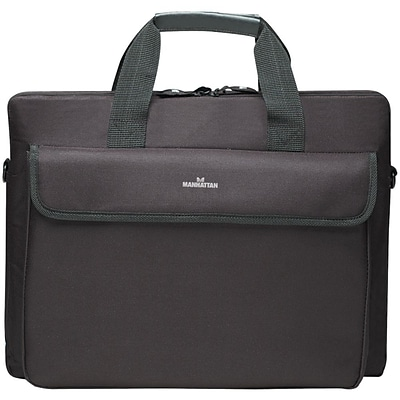 Manhattan® London Top Loading Briefcase For Up to 15.6 Notebook Computer, Black