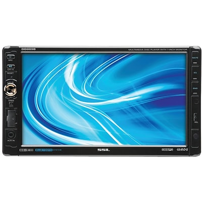 SSL DD889 7 Double Din In-Dash Detachable Touchscreen Multimedia Player With Bluetooth