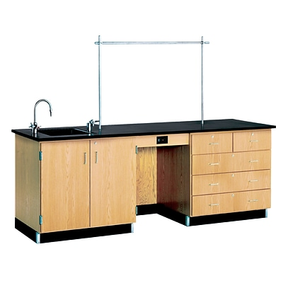 DWI Instructors Desk 36H x 96W x 30D Wood