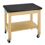 DWI Mobile Demo Laminate, Oak Wood Cart Plastic Laminate Top