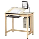 SHAIN Drawing Table 39.75H x 42W x 30D Solid Maple