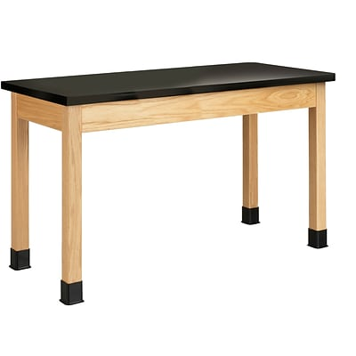 DWI Science Table 30H x 54W x 24D Wood Epoxy Resin Top