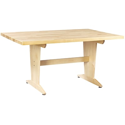 SHAIN Art/Planning Table 30H x 60W x 42D Solid Maple