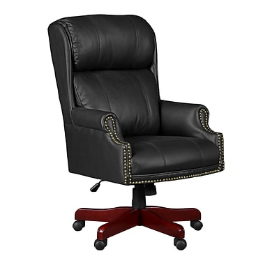 Regency Seating Barrington Traditional Judges Style Leather/Wood Managerial Chair