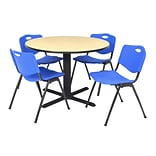 "Regency Seating 30"" Blue Round Laminate Table - Ideal for casual lunchrooms"