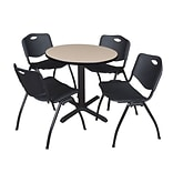 "Regency Seating 30"" Black Round Laminate Table - Ideal for casual lunchrooms"