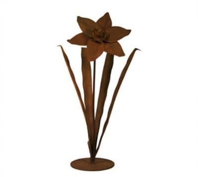 Patina Products Daffodil Garden Statue; Small