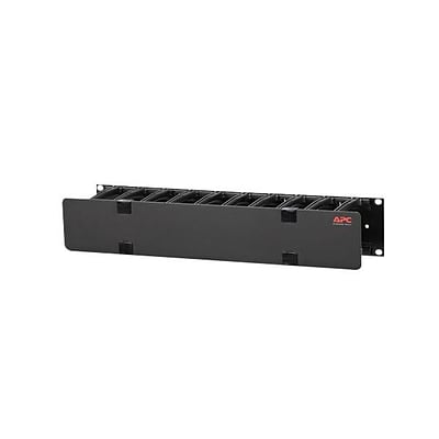 APC® AR8602A 2U x 4 Deep Single Sided Horizontal Cable Manager With Cover
