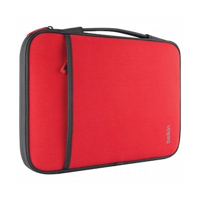 "Belkin™ Carrying Case For 11"" Laptop/Chromebook; Red"