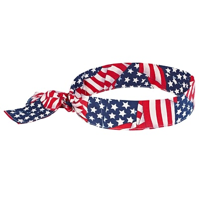 Ergodyne® Chill-Its® 6700 Evaporative Cooling Bandana, Stars and Stripes, 24/Pack