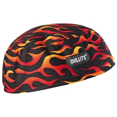 Ergodyne® Chill-Its® 6630 High-Performance Cap, Flames, 6/Pack