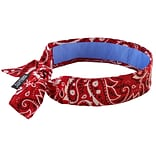 Red Western Bandana With Cooling Towel