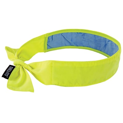Ergodyne® Chill-Its® 6700 Evaporative Cooling Bandana With Cooling Towel, Lime, 6/Pack